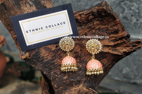 Jhumkas with Enamel Work