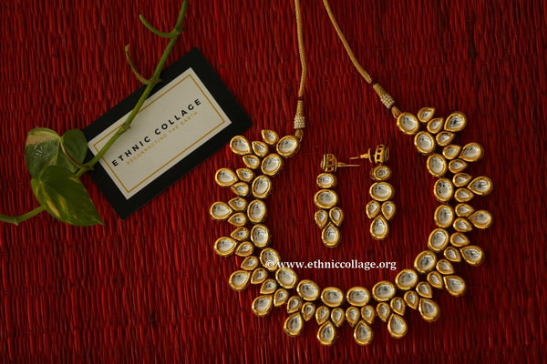 Kundan Necklace set, Kundan Jewellery ,