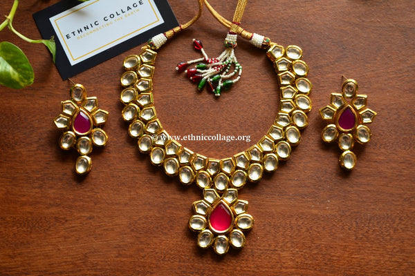 Kundan Inspired Necklace Set