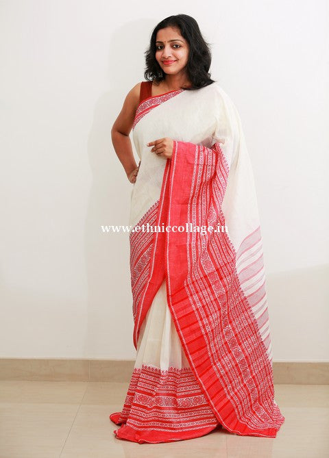 HandWoven Pure Linen Saree (LNP03)