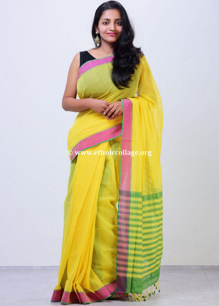 Pure Cotton Handloom Mangalgiri Saree