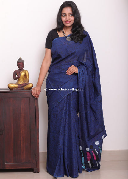 Handblock printed cotton saree, Block print saree, cotton sari