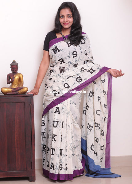 Handwoven Printed Cotton Saree