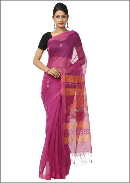 HandWoven Cotton Silk Jamdani Saree