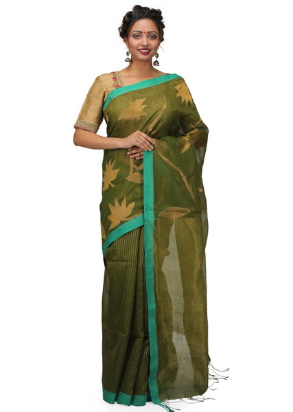 Handloom Silk Saree with Jamdani Weave
