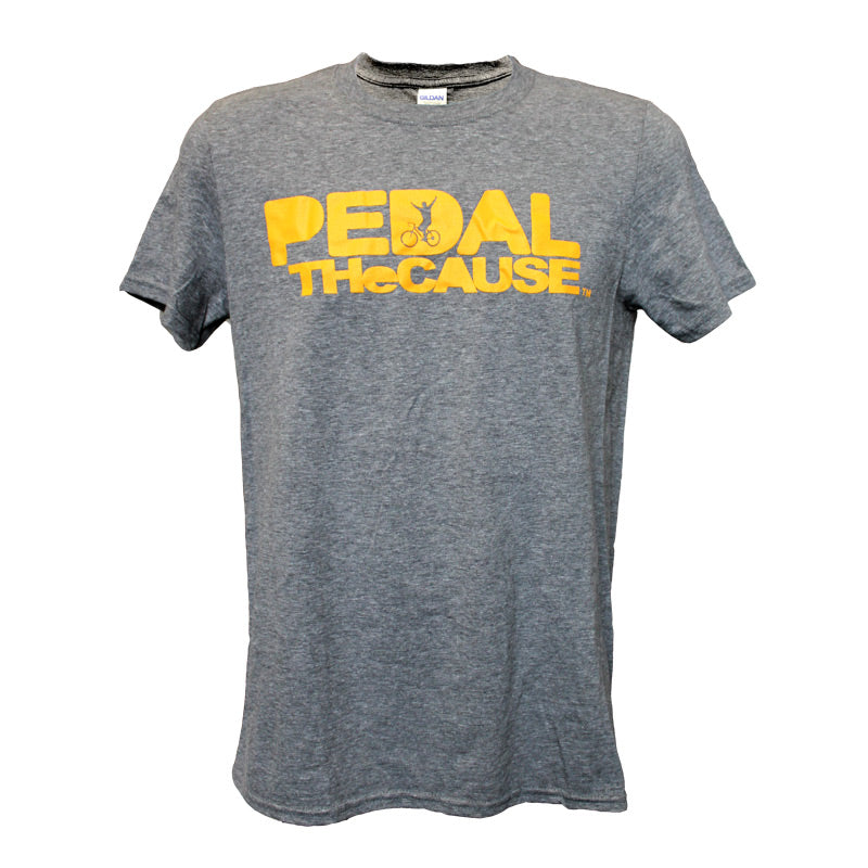 Pedal the Cause Spine Print Tee Shirt in Grey