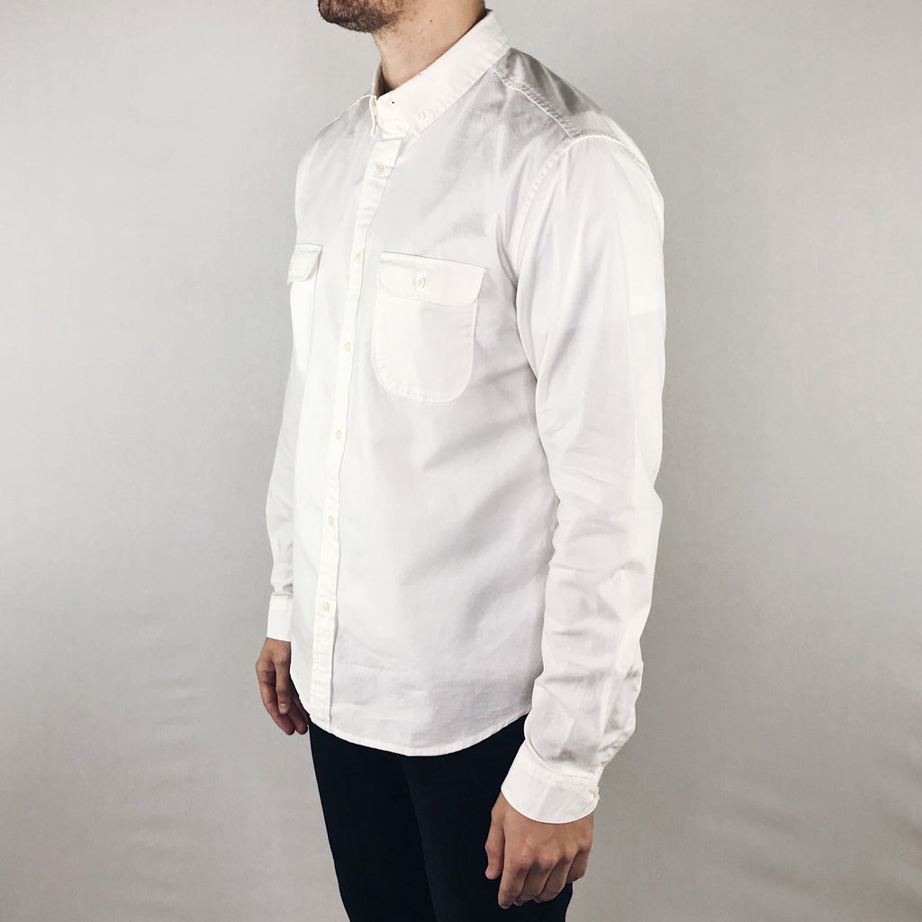 Life After Denim - Scout Shirt Long Sleeve White - Foundry Mens Goods