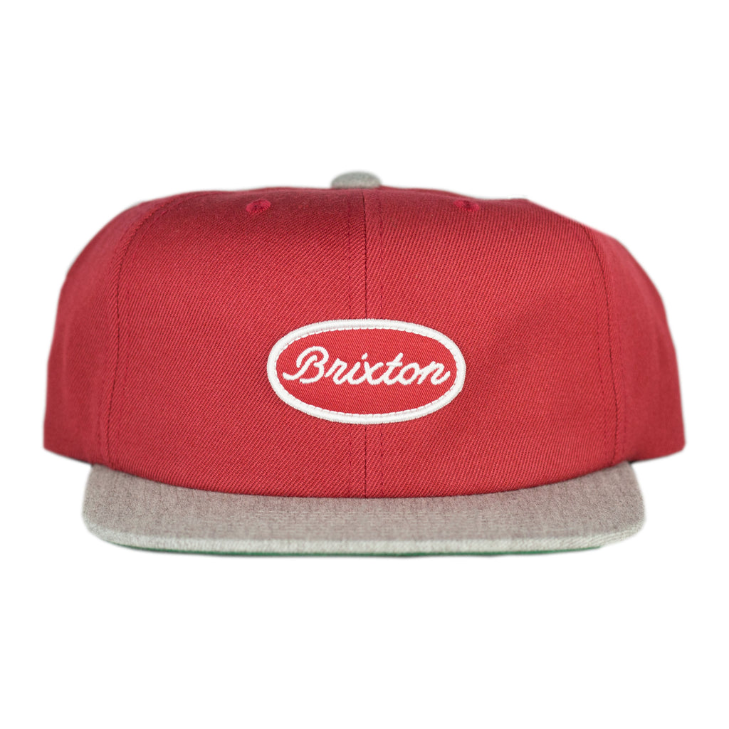 Brixton - Mccune Snapback Brick/Heather Grey - Foundry Mens Goods