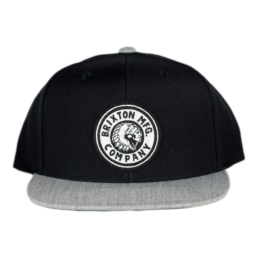Brixton - Rival Snapback Black/Heather Grey - Foundry Mens Goods