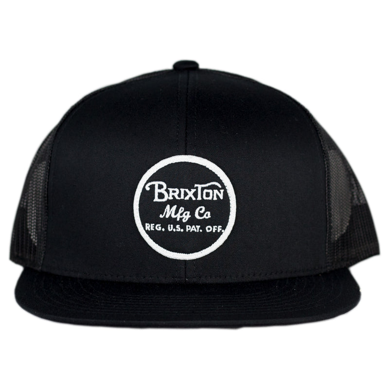 Brixton - Wheeler Mesh Cap Black - Foundry Mens Goods