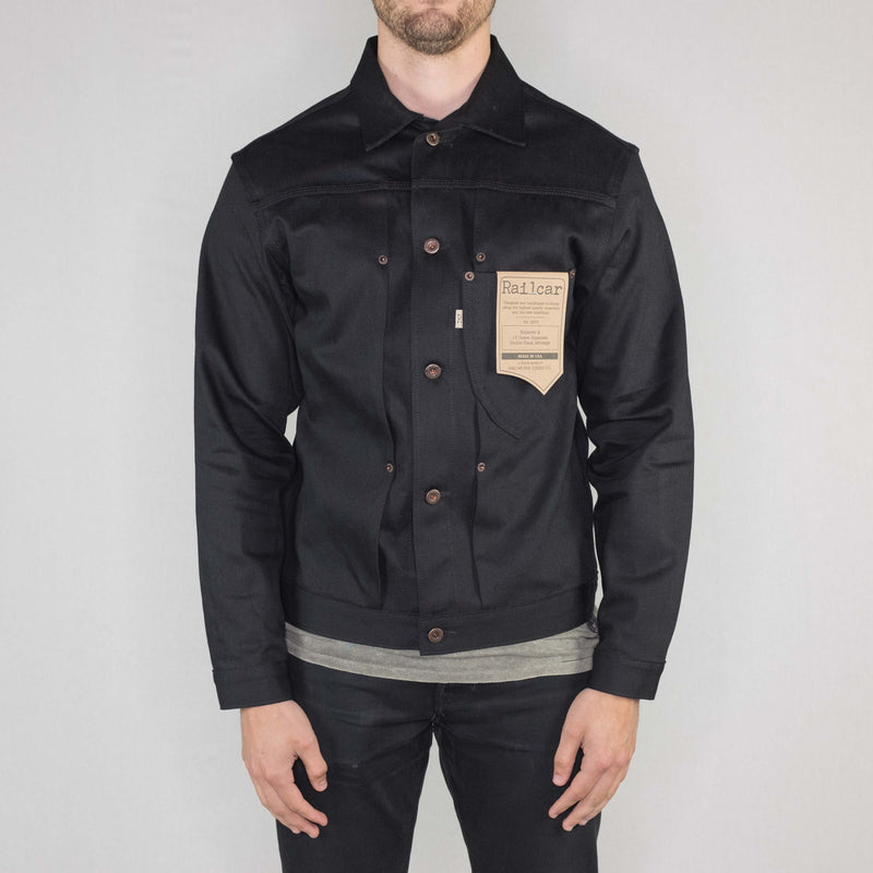 Railcar - Explorer Jacket Japanese 13oz Double Black Selvedge - Foundry Mens Goods