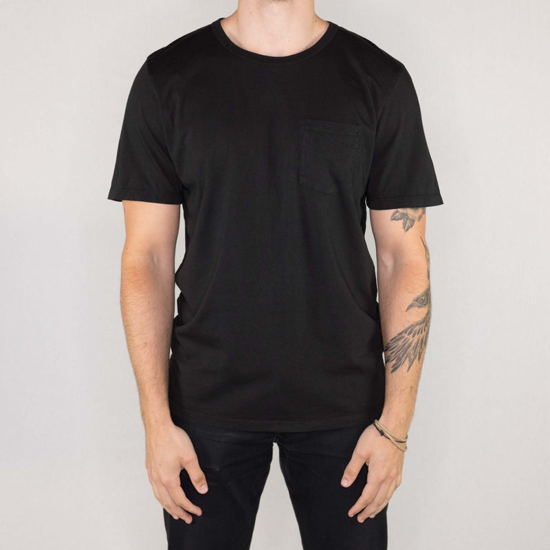 Groceries Apparel - Heritage Pocket Tee Black - Foundry Mens Goods