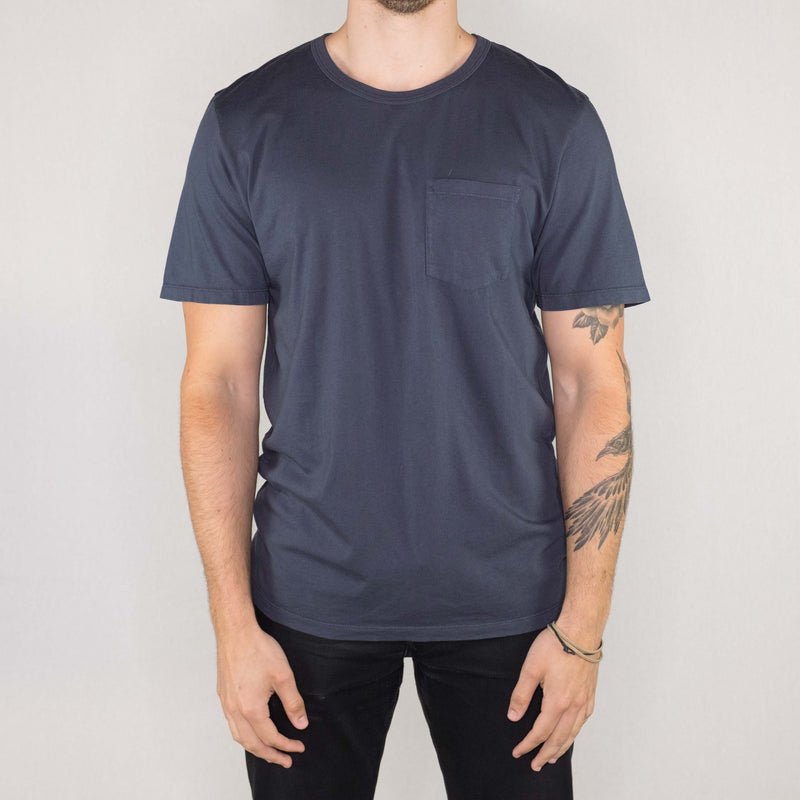 Groceries Apparel - Heritage Pocket Tee Neptune - Foundry Mens Goods
