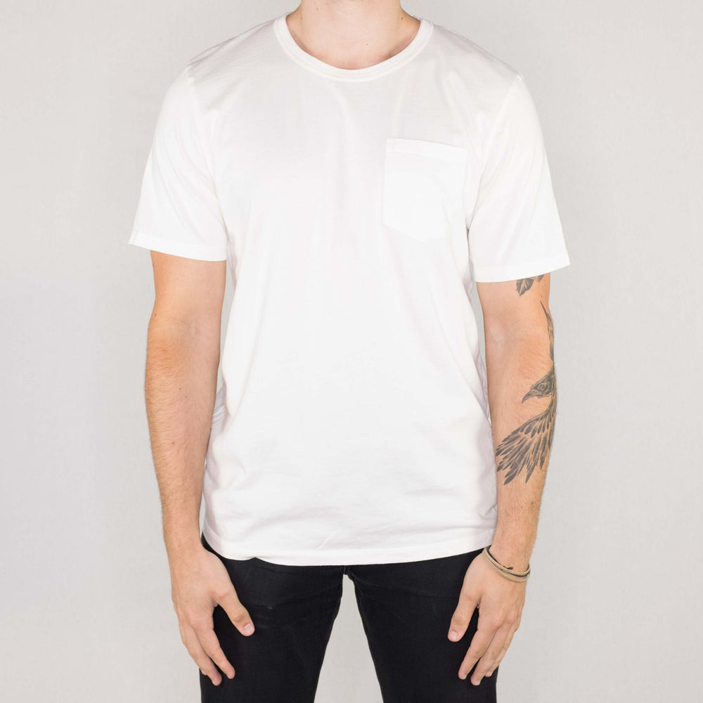 Groceries Apparel - Heritage Pocket Tee White - Foundry Mens Goods