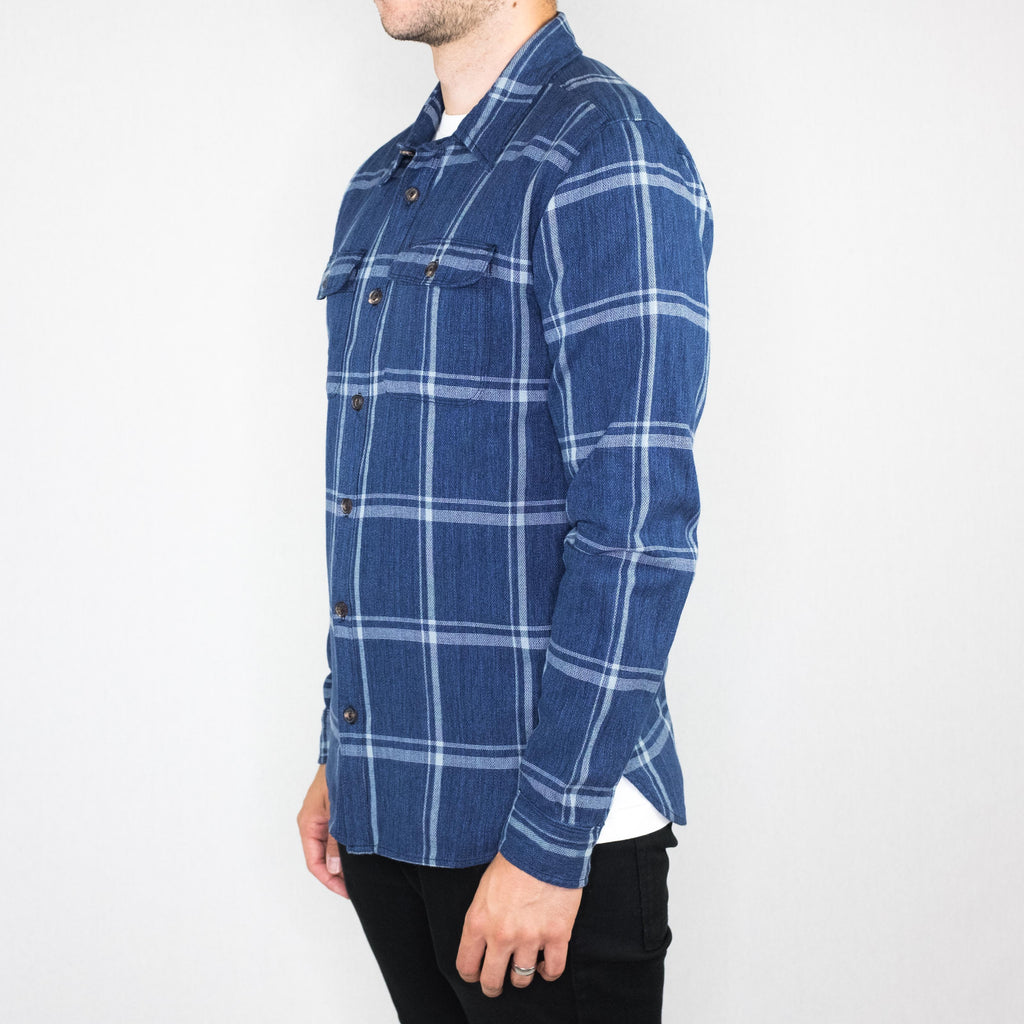 Freenote Cloth - Jepson Shirt Long Sleeve Blue Check - Foundry Mens Goods