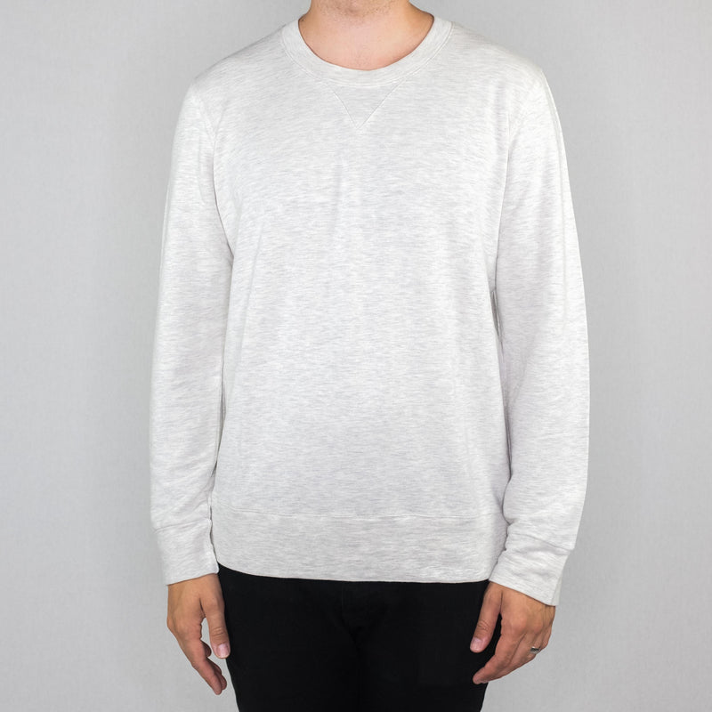 Monrow - Pullover Crew Neck Sweatshirt Ash - Foundry Mens Goods