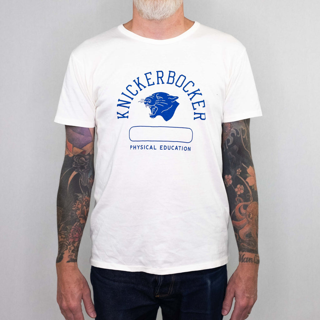 7de4d7af Knickerbocker MFG - Phys. Ed. Tube Tee Blue Print - Foundry Mens Goods