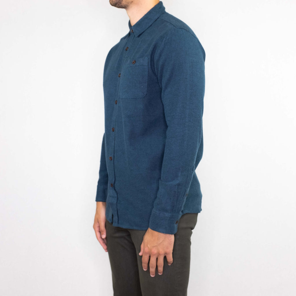 Katin USA - Twiller Flannel Long Sleeve Shirt Slate Blue - Foundry Mens Goods