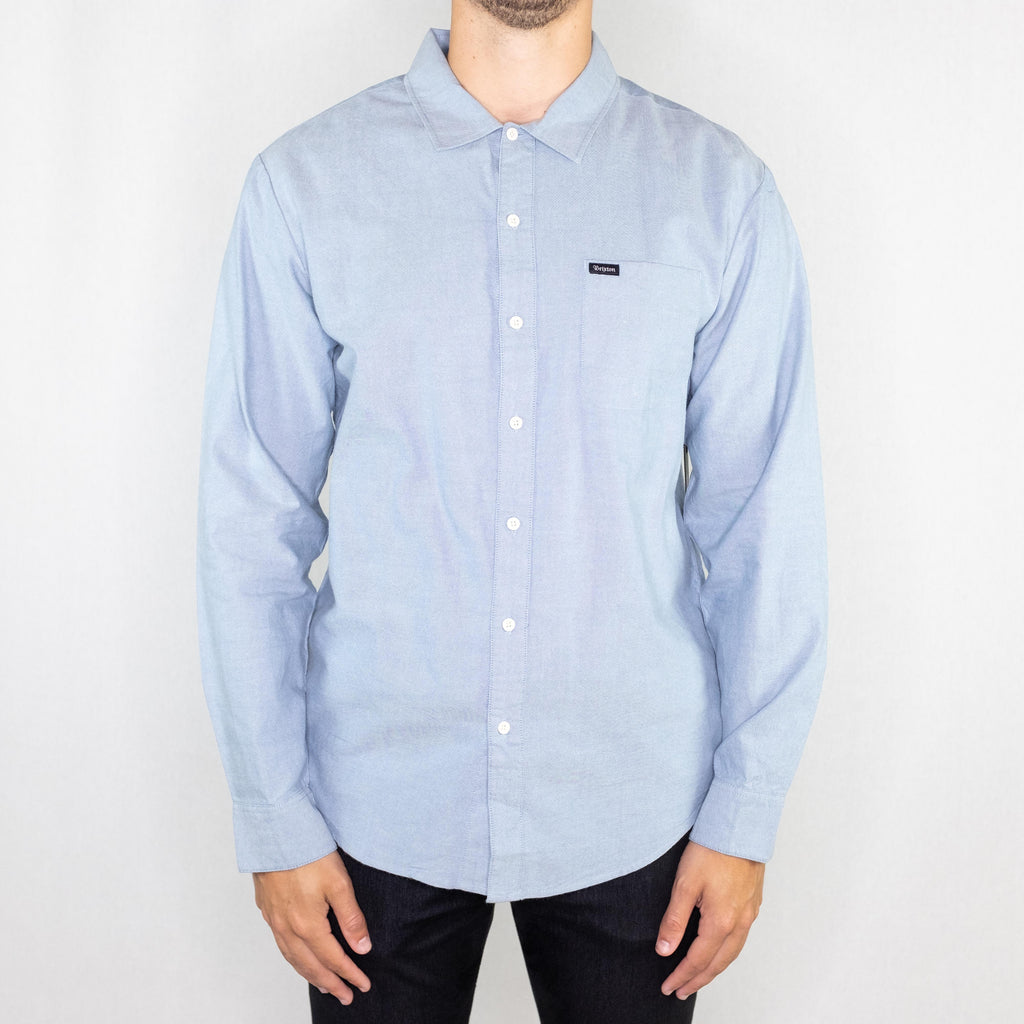 Brixton - Charter Oxford Long Sleeve Light Blue Chambray - Foundry Mens Goods