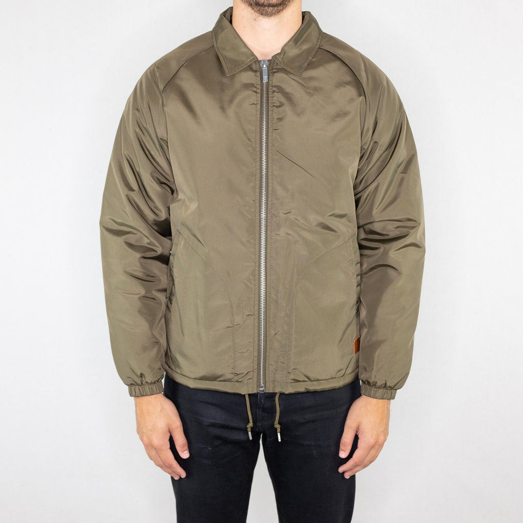 Brixton - Claxton Sherpa Jacket Olive - Foundry Mens Goods