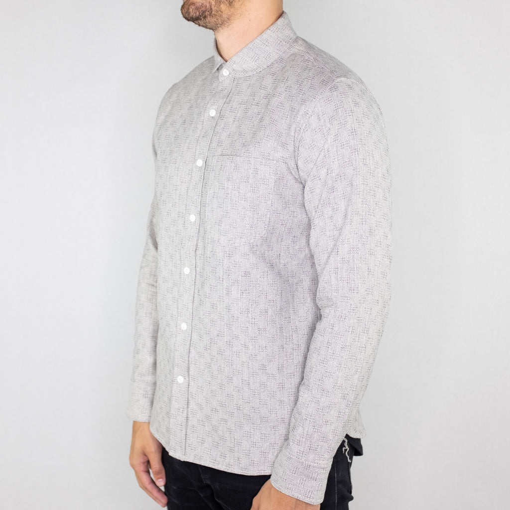 Rogue Territory - Jumper Long Sleeve Shirt Indigo Jacquard - Foundry Mens Goods