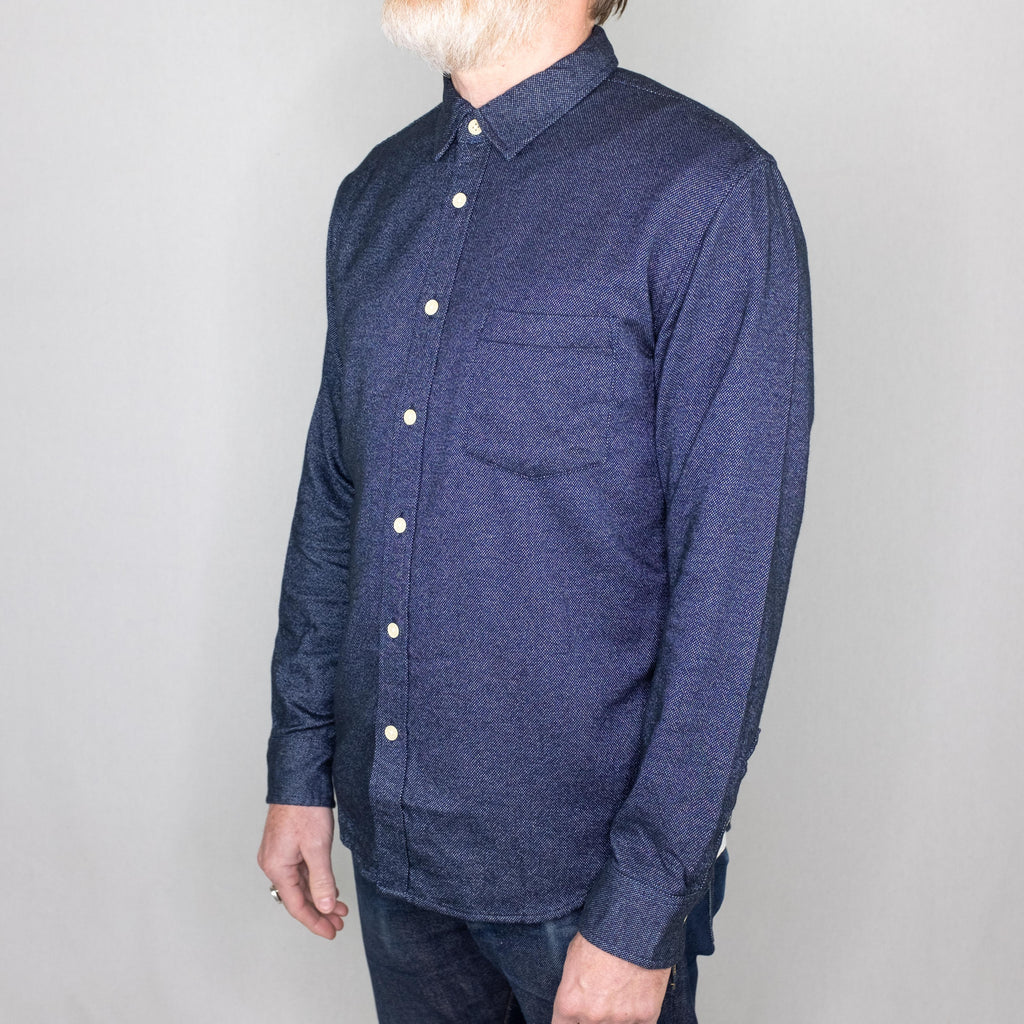 Corridor - Brushed Flecked Navy Flannel - Foundry Mens Goods
