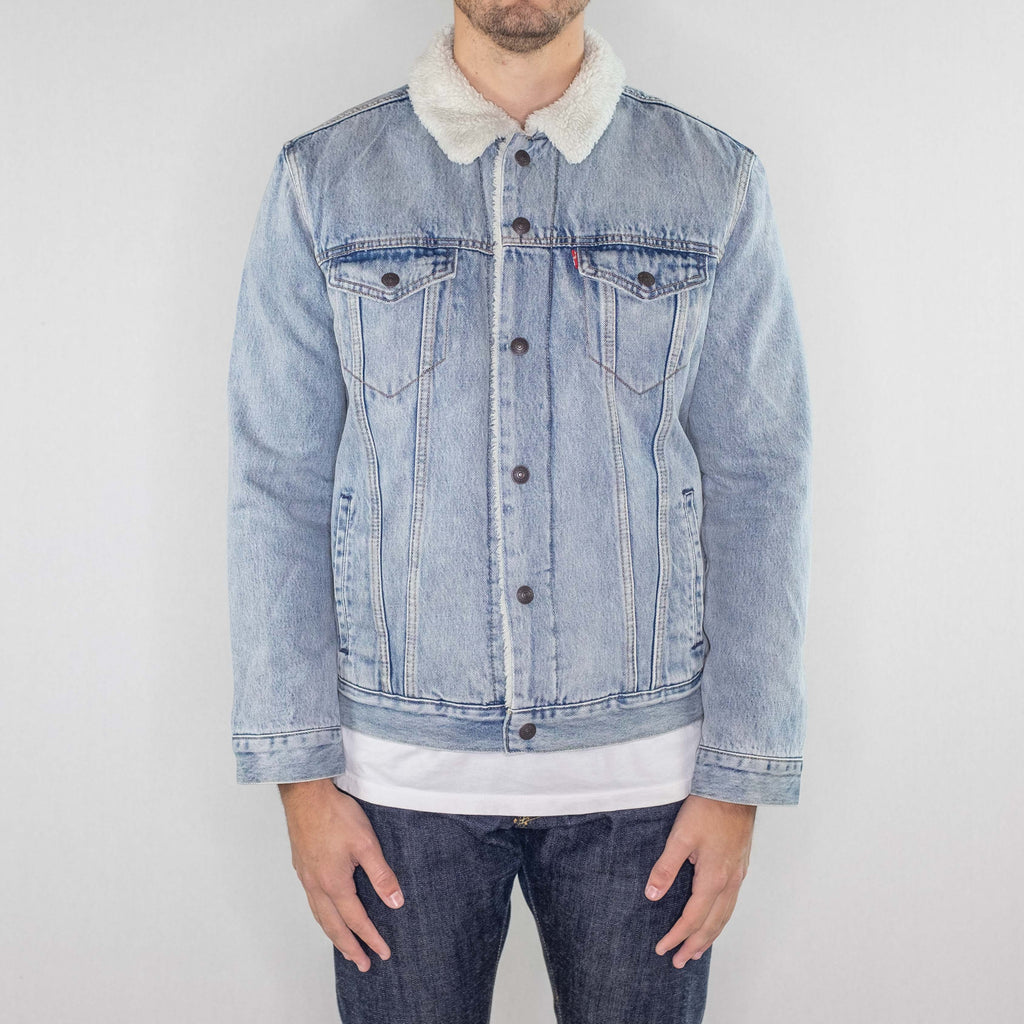 Levi's Premium - Sherpa Trucker Denim Jacket - Foundry Mens Goods
