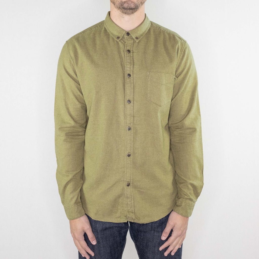Life After Denim - Greenpoint Flannel Shirt Heather Sprig - Foundry Mens Goods