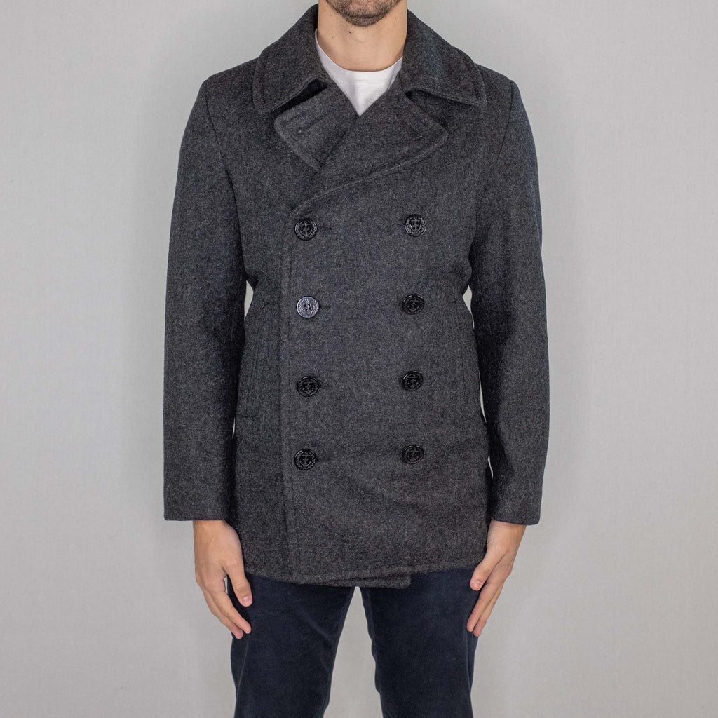 Schott NYC - 751 Slim Fit Peacoat Dark Oxford Grey