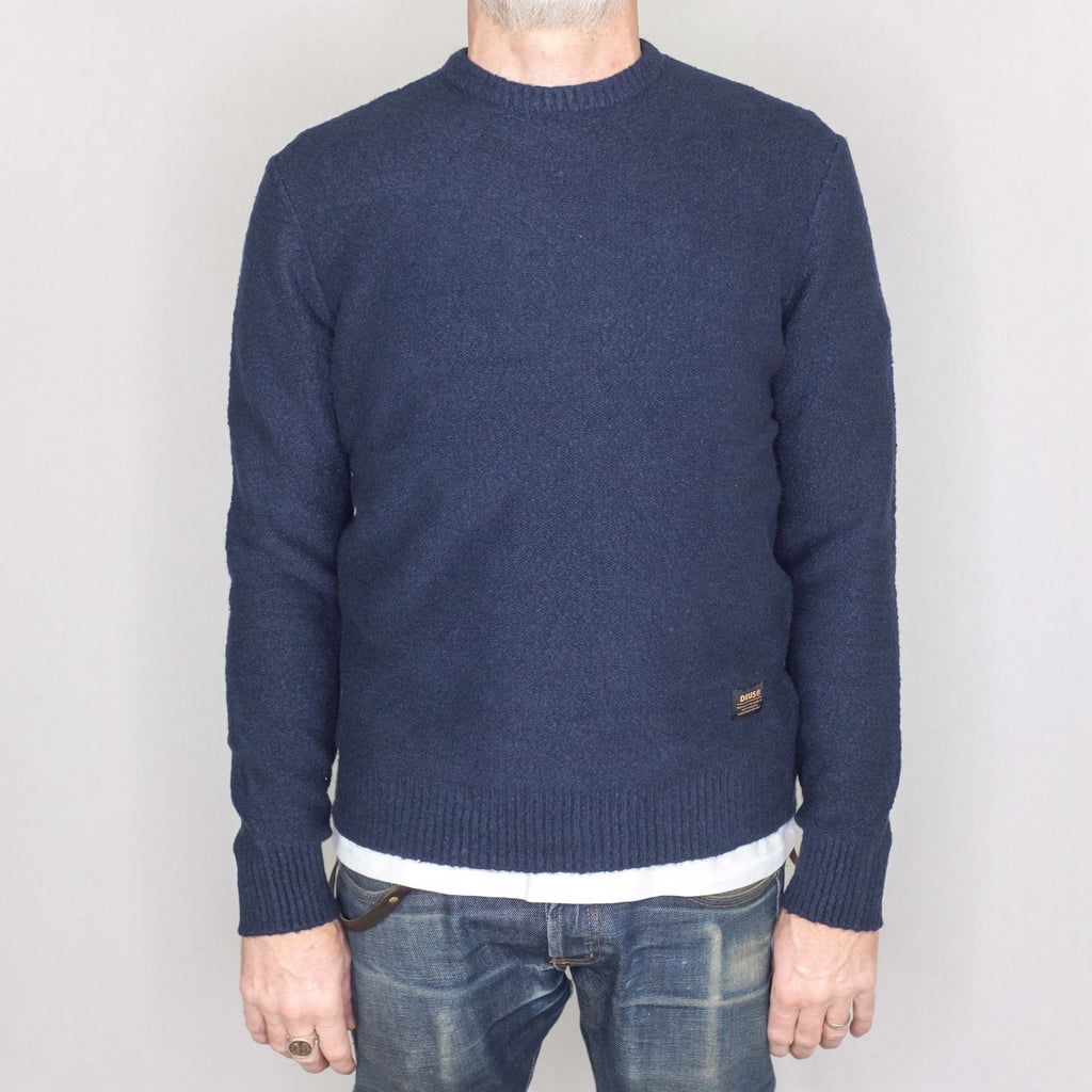 Deus Ex Machina Cambridge Sweater Navy - Foundry Mens Goods