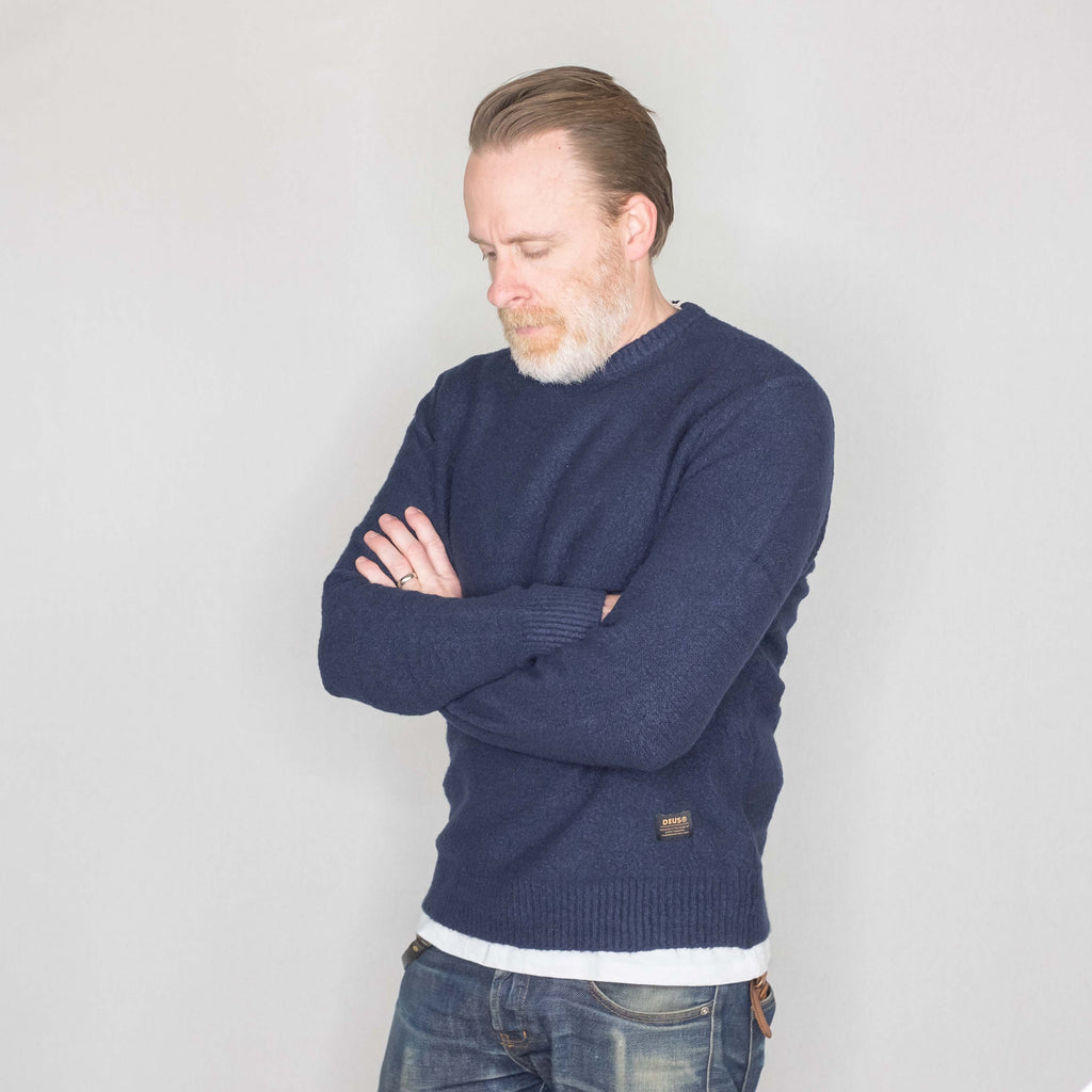 Deus Ex Machina - Cambridge Sweater Navy - Foundry Mens Goods