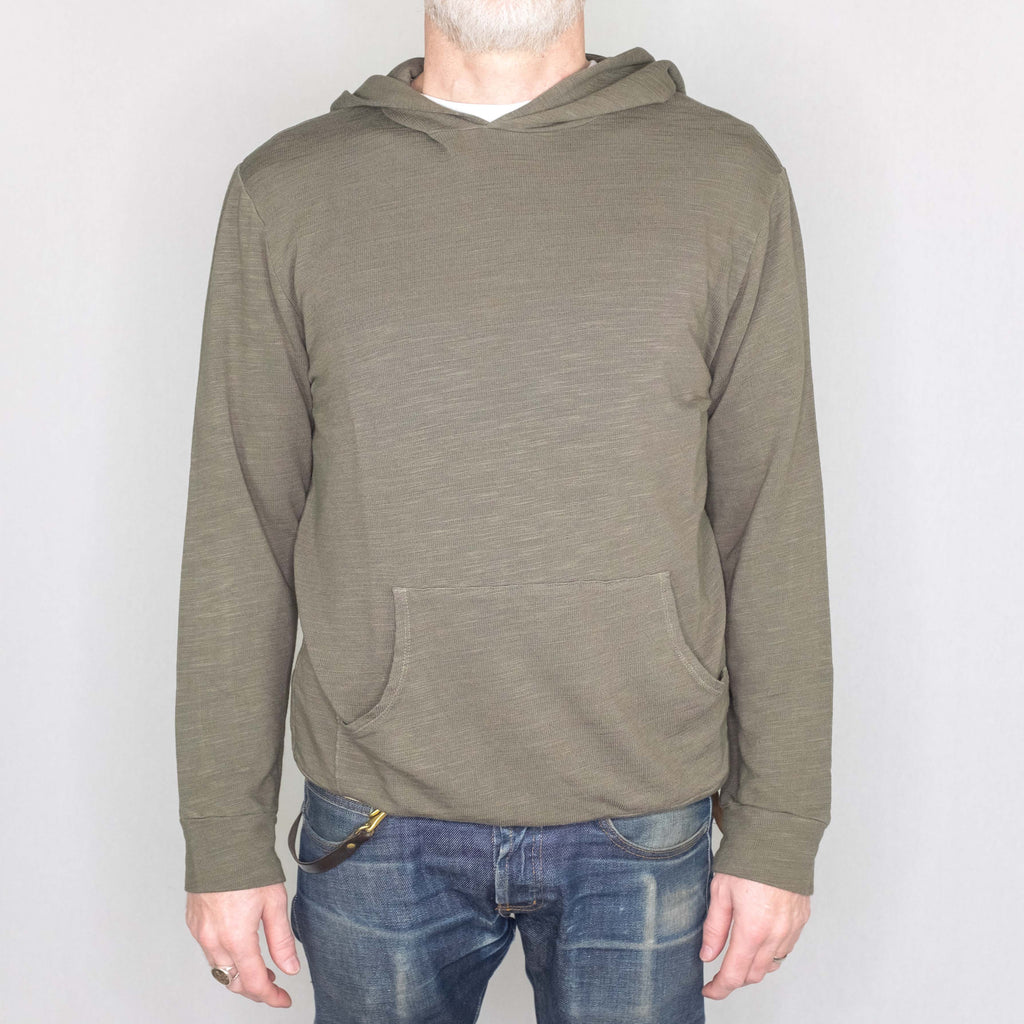 Monrow - Supersoft Pullover Sweatshirt Olive - Foundry Mens Goods