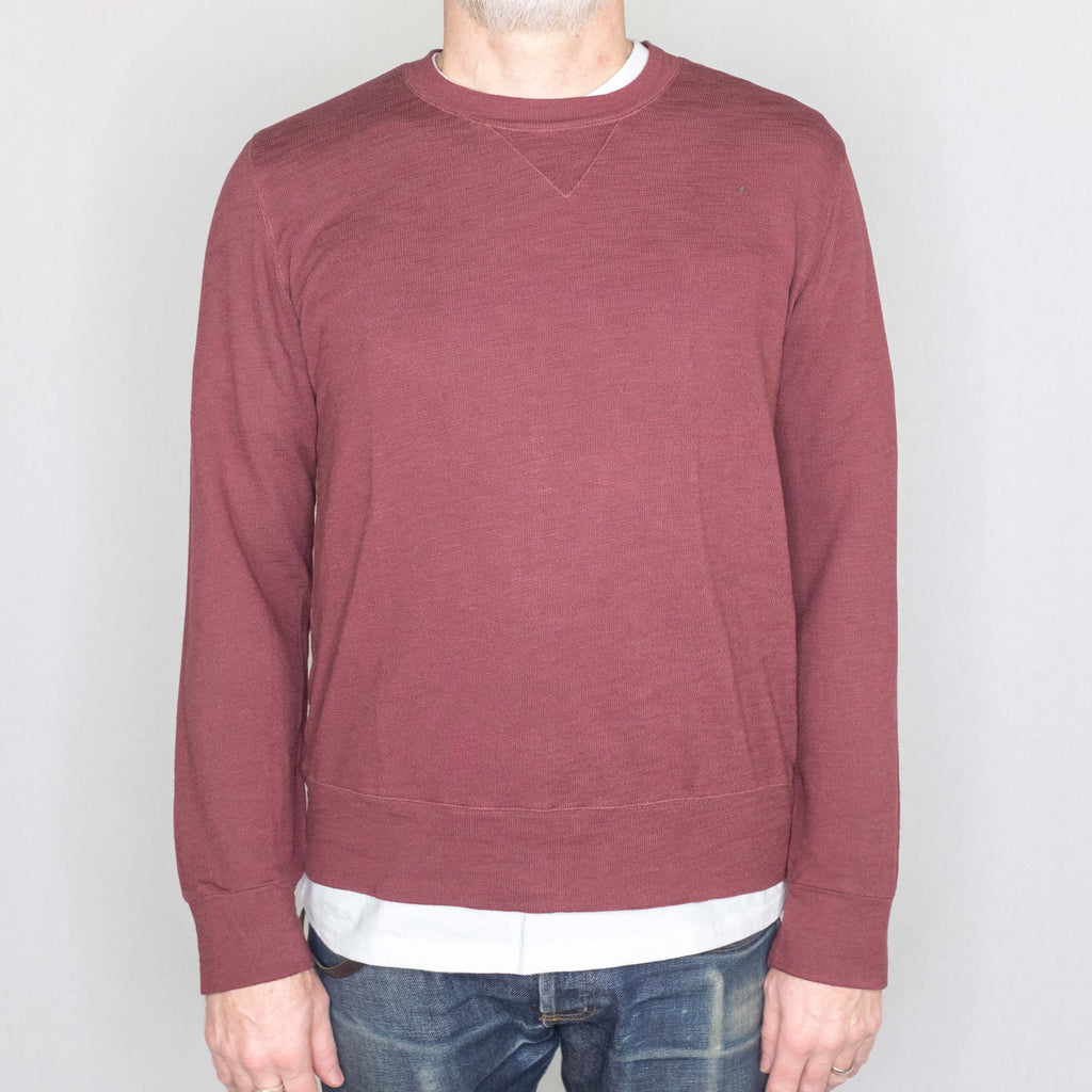 Monrow - Super Soft Crew Neck Sweatshirt Dusty Maroon - Foundry Mens Goods