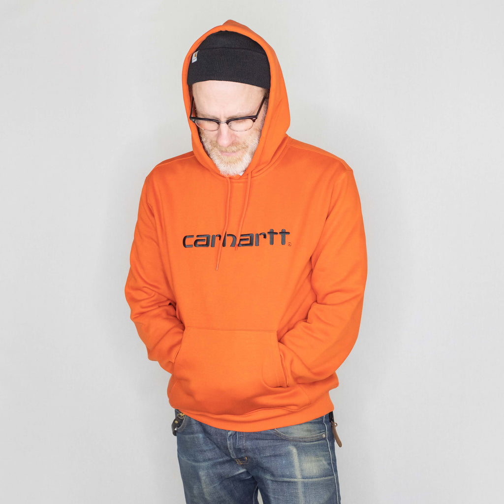 Carhartt WIP - Hooded Sweatshirt Persimmon - Foundry Mens Goods