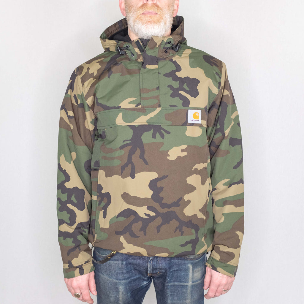 Carhartt WIP - Nimbus Pullover Fleece Lined Laurel Camo - Foundry Mens Goods