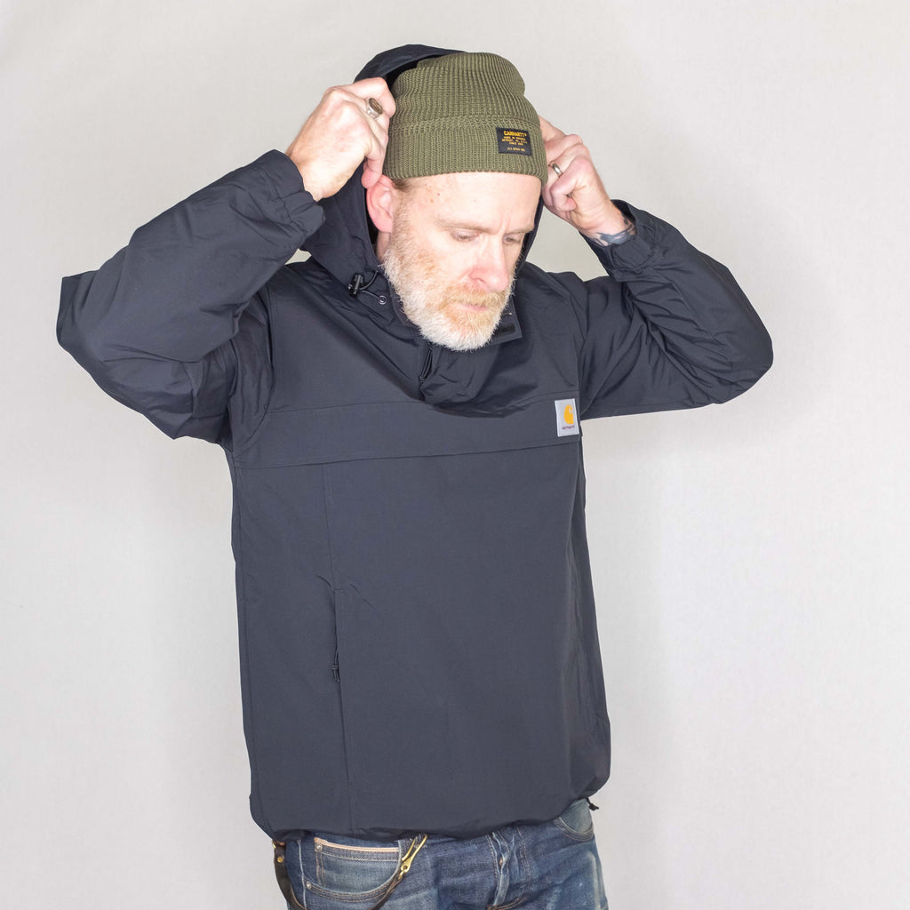 Carhartt WIP - Nimbus Pullover Fleece Lined Black - Foundry Mens Goods