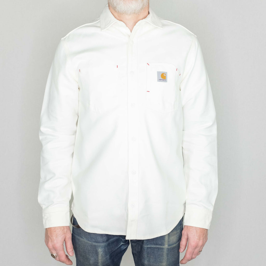 Carhartt WIP - Tony Shirt Long Sleeve 7.5oz Midweight Canvas Wax - Foundry Mens Goods