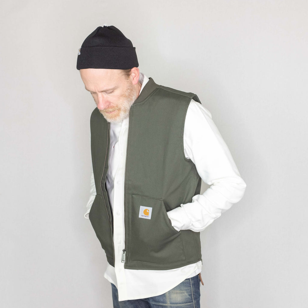 Carhartt WIP - Vest 12oz Dearborn Canvas Water Repellant Cypress - Foundry Mens Goods
