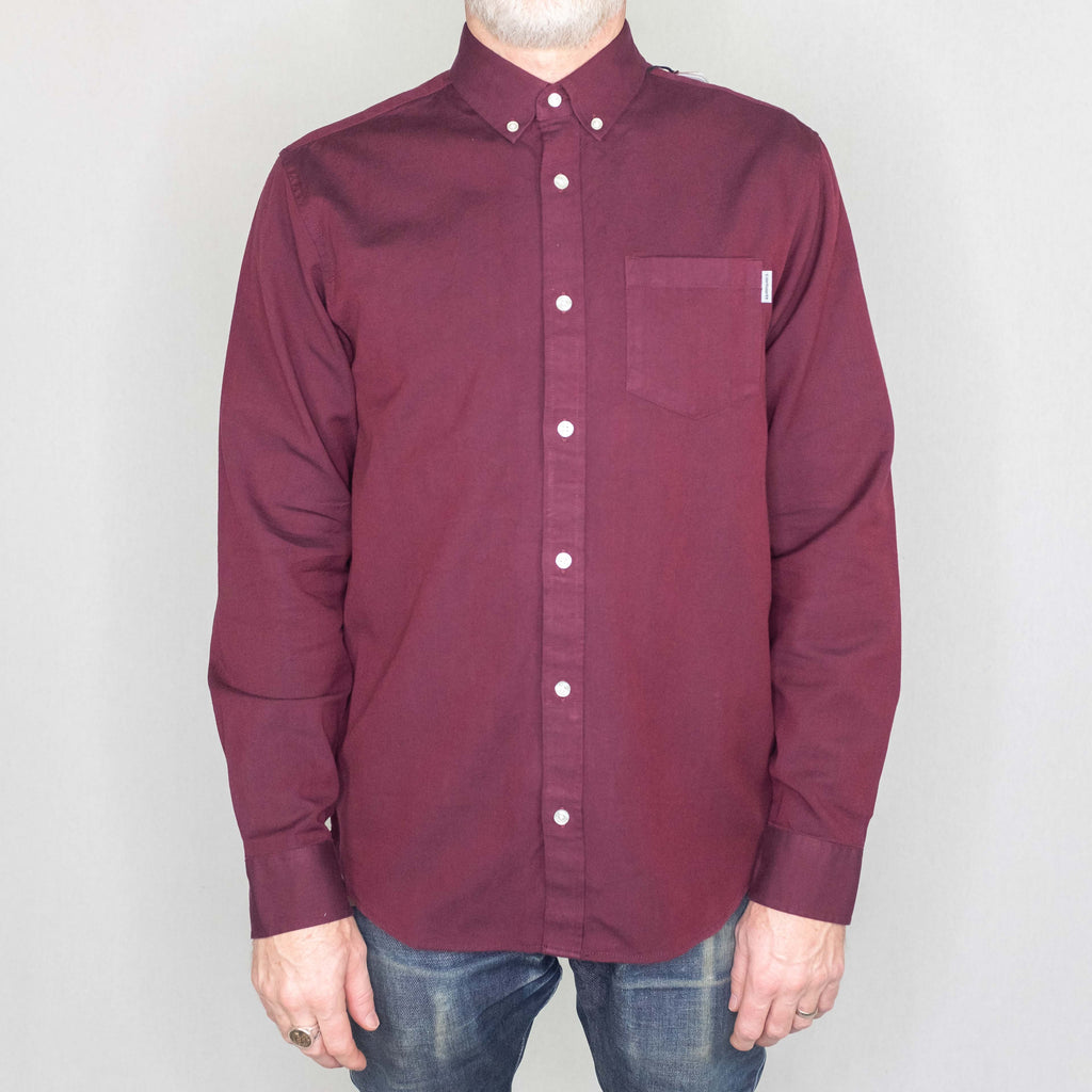 Carhartt WIP - Dalton Shirt Long Sleeve Mulberry - Foundry Mens Goods