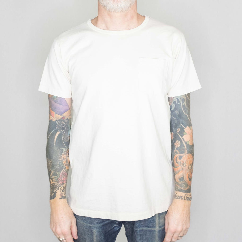 Schott NYC - Super Heavyweight Pocket Tee Off White