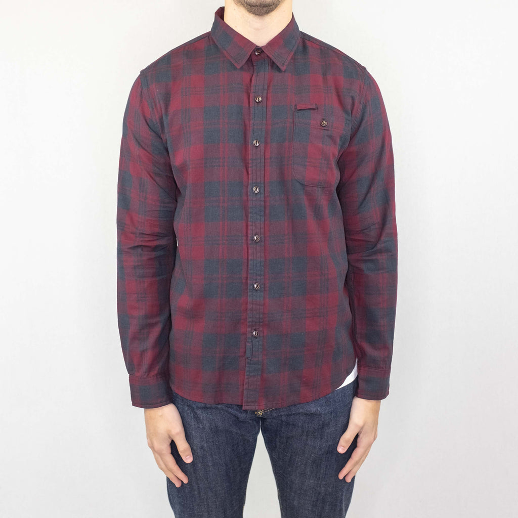 Bridge and Burn - Foster Shirt Long Sleeve Faded Red Plaid - Foundry Mens Goods