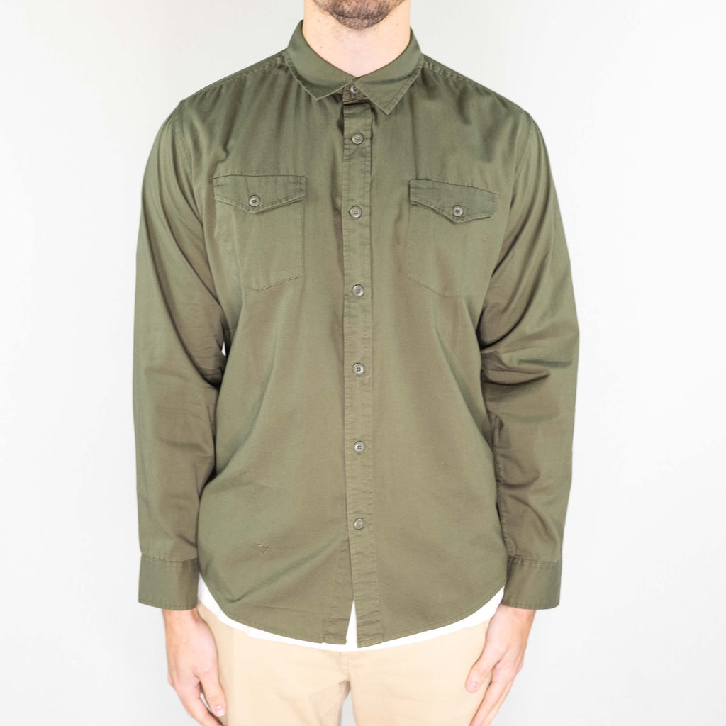 Vissla - Shed Shirt Long Sleeve Woven Dark Olive
