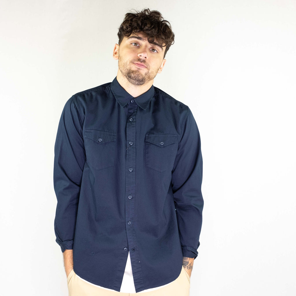 Vissla - Shed Shirt Long Sleeve Woven Dark Navy