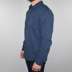 Bridge and Burn - Winslow Shirt Long Sleeve Navy Twill - Foundry Mens Goods