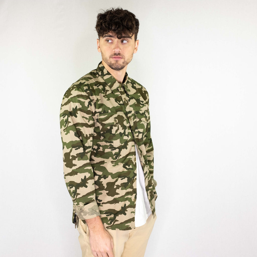 Freenote Cloth - Dayton Ripstop Long Sleeve Shirt Camouflage - Foundry Mens Goods