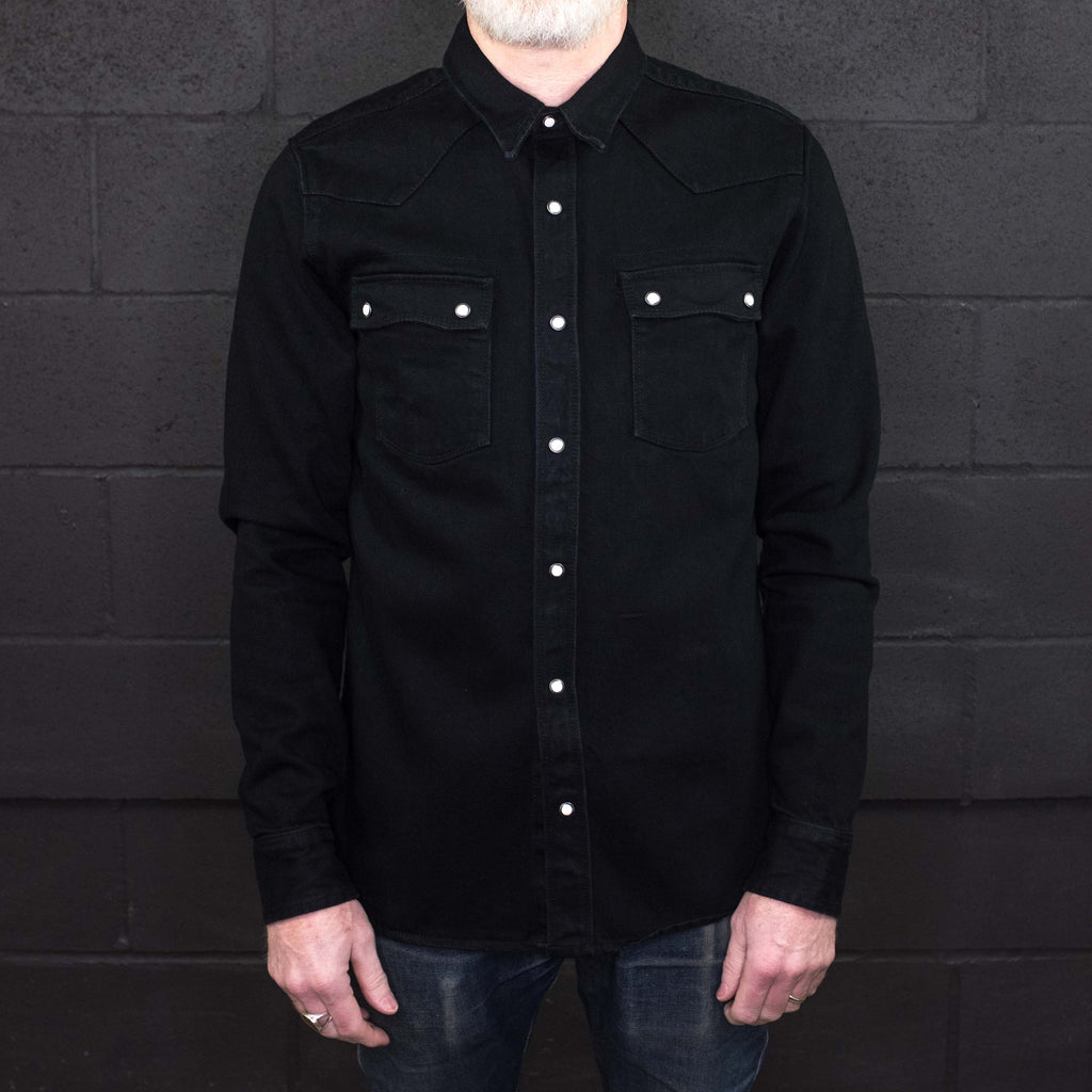 Freenote Cloth - Modern Western Shirt 11oz Black Denim - Foundry Mens Goods