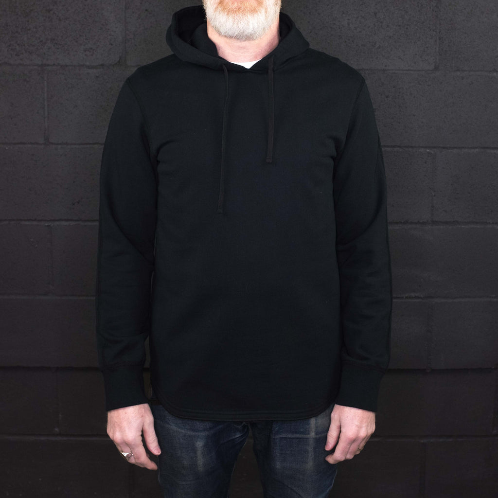 Reigning Champ - Midweight Terry Scalloped Hoodie Black