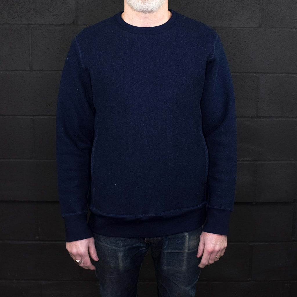 3Sixteen - Heavyweight Crew Indigo Fleece - Foundry Mens Goods
