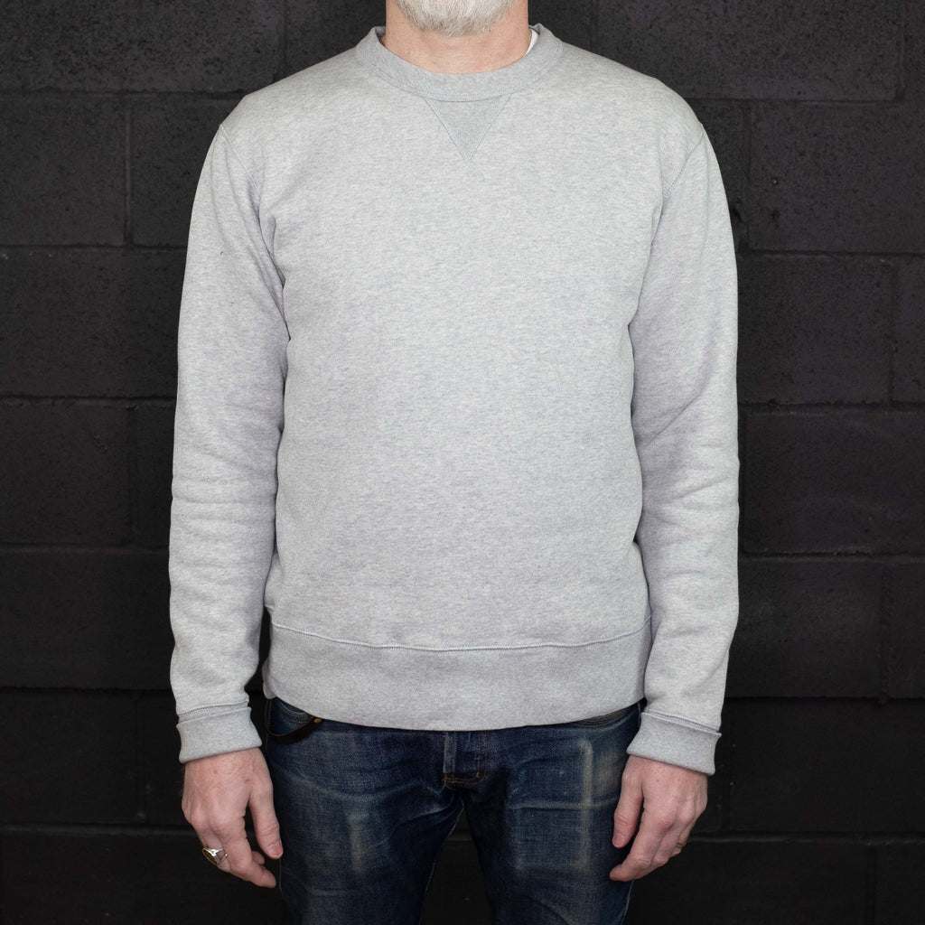 Knickerbocker MFG - Crew Neck Fleece Heather Gray - Foundry Mens Goods
