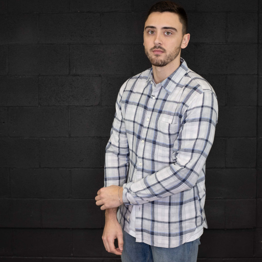 Kato - The Ripper Grey Gingham Shirt Vintage Double Gauze - Foundry Mens Goods